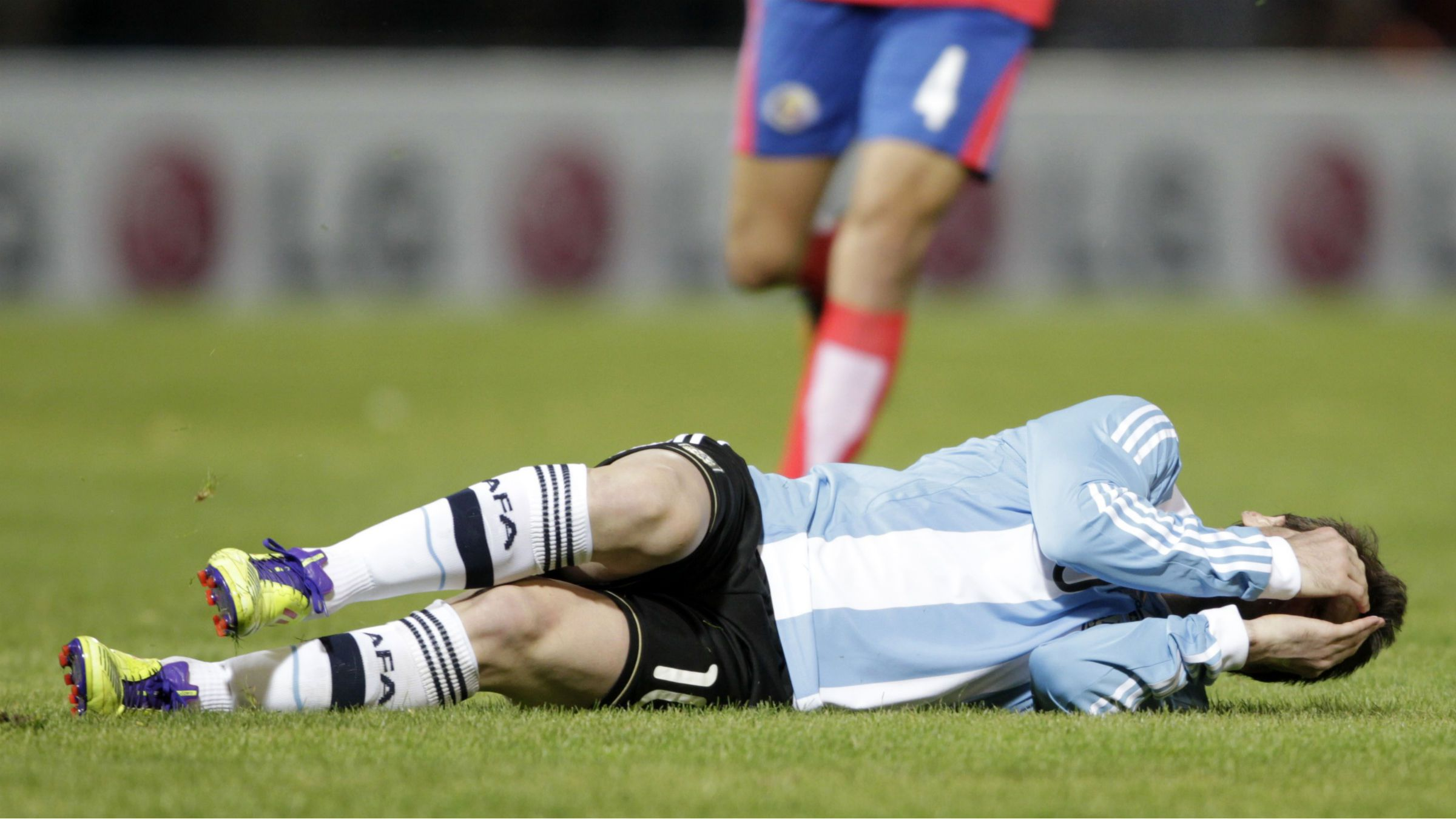 Lionel Messi injuried