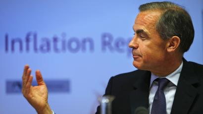 Bank of England governor Mark Carney gestures during a news conference