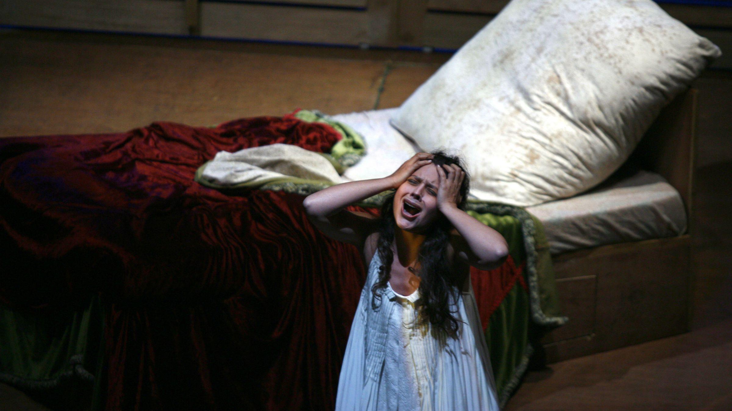A soprano in La Traviata