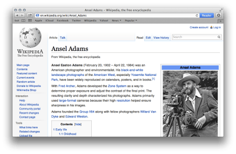 What Safari URLs used to look like