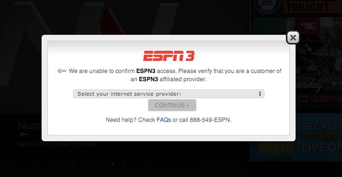 ESPN pay TV gate