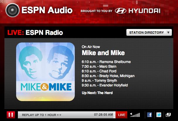 ESPN Radio online