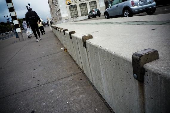 Skateboard deterrent