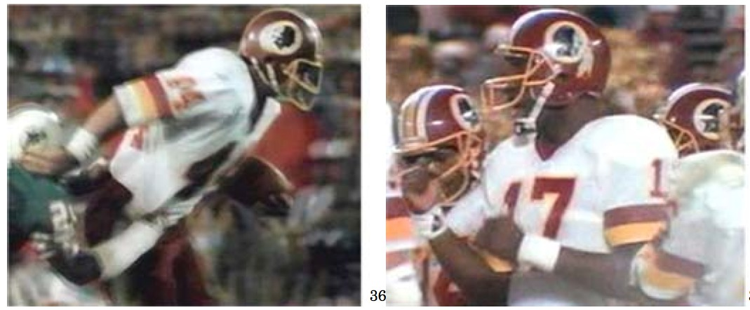 The image of a Native American has appeared prominently as a logo on the helmets of respondent's Washington Redskins' team uniforms.