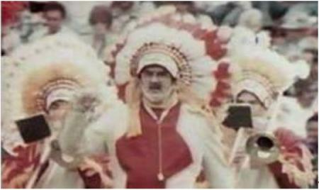 The Washington Redskins marching band had worn Native American headdresses as part of its uniforms between the 1960s and the 1990.