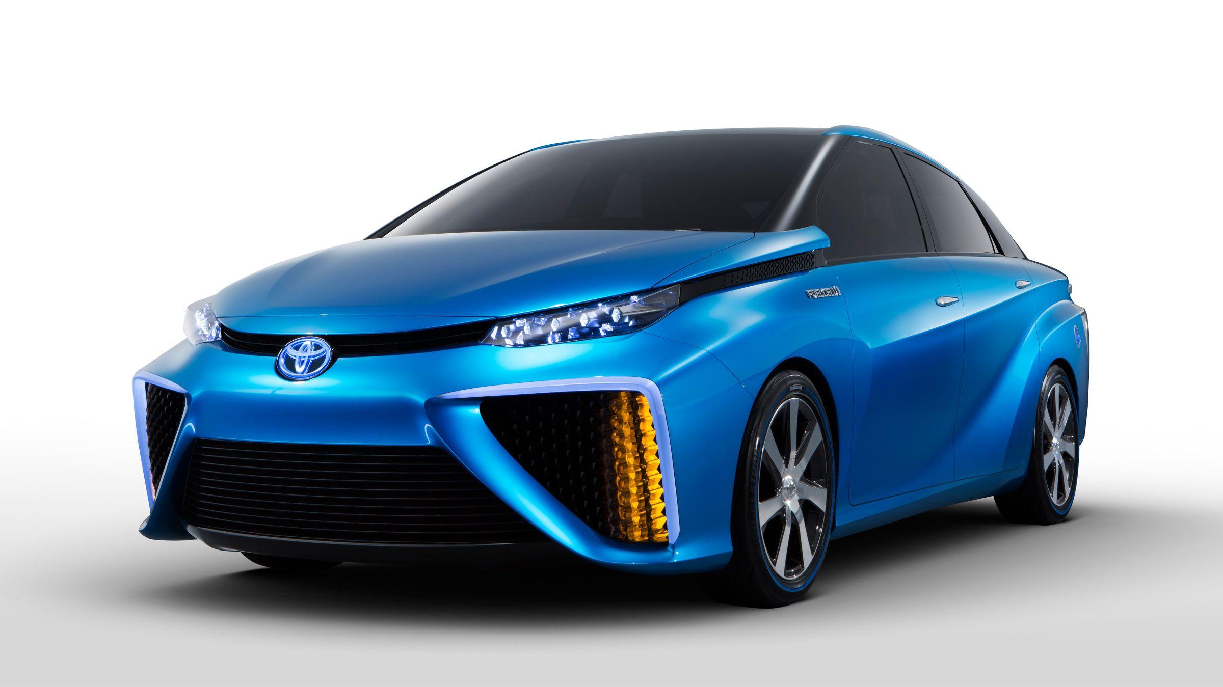 The Toyota FCV concept car