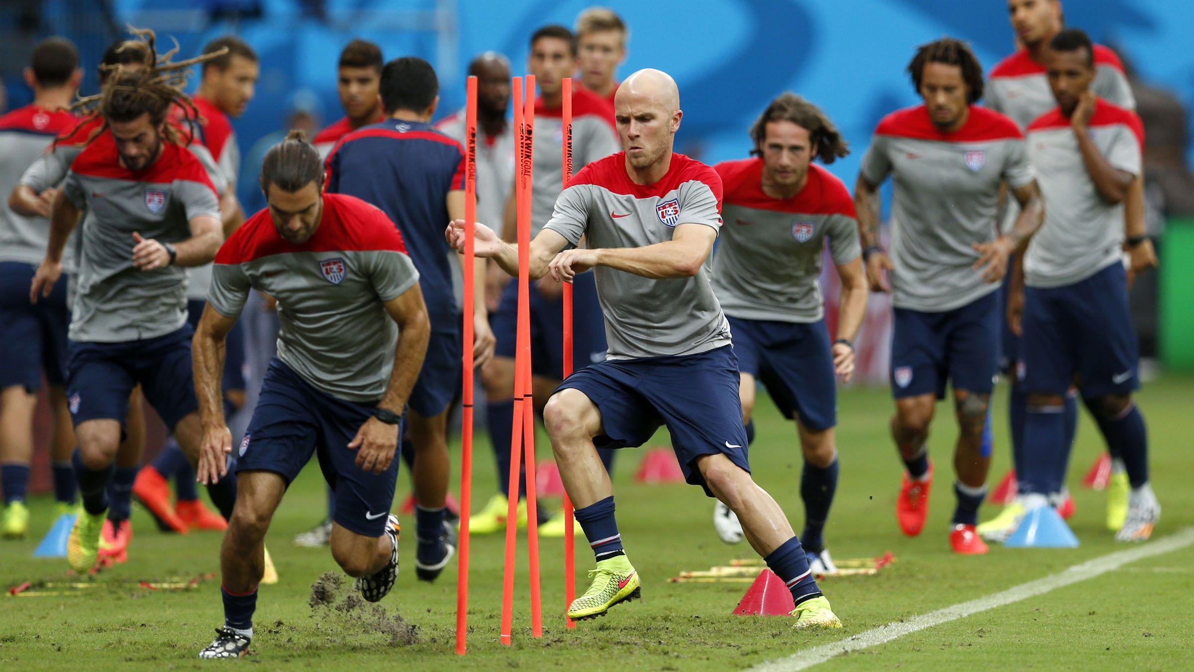US men's national soccer team training session