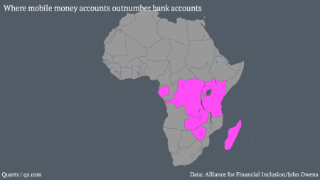 Where mobile money accounts outnumber bank accounts