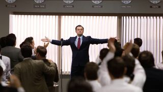 """FILE - This file film image released by Paramount Pictures shows Leonardo DiCaprio as Jordan Belfort in a scene from """"The Wolf of Wall Street."""" Moviegoers in Dubai say they were disappointed by Martin Scorsese and Leonardo DiCaprio's latest film, """"The Wolf of Wall Street,"""" but not because the film had gone """"too far"""" in its excesses, but because it hadn't gone far enough.(AP Photo/Paramount Pictures, Mary Cybulski, File)"""