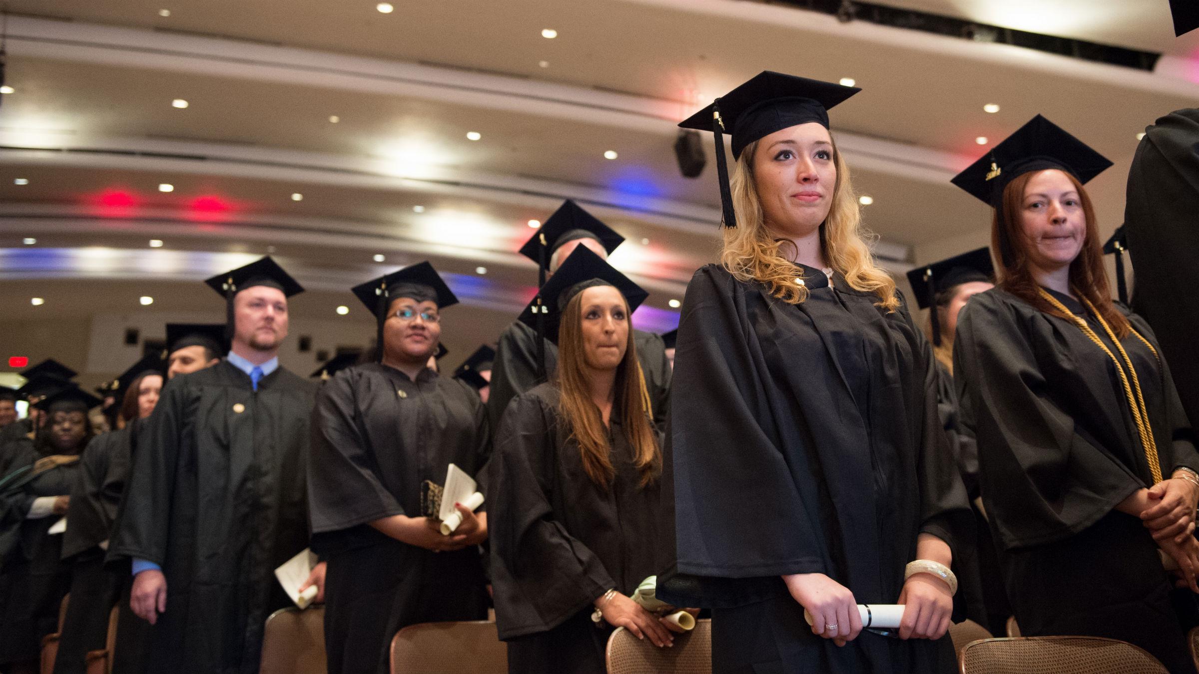 Business graduation ceremony