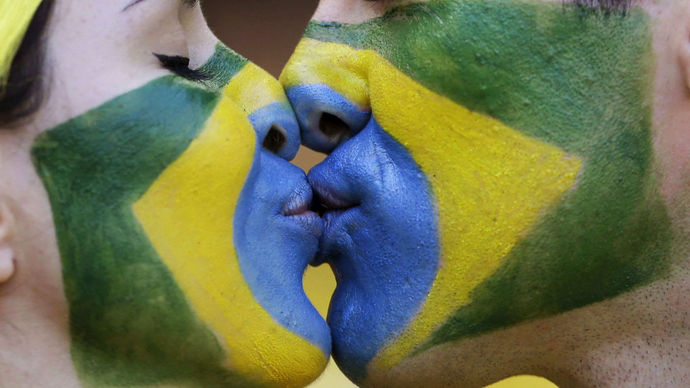 Brazil supporters at the world cup