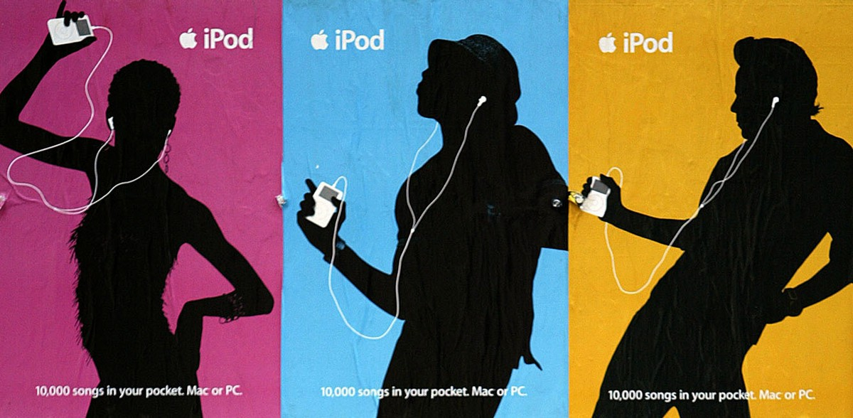 Apple iPod earbud ad