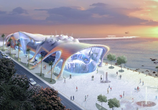 rendering of aquarium