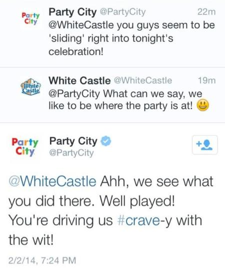 Brands on Twitter talking to each other