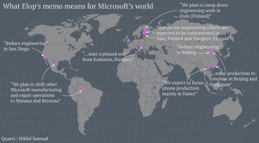 How Microsoft's global footprint is changing with its massive