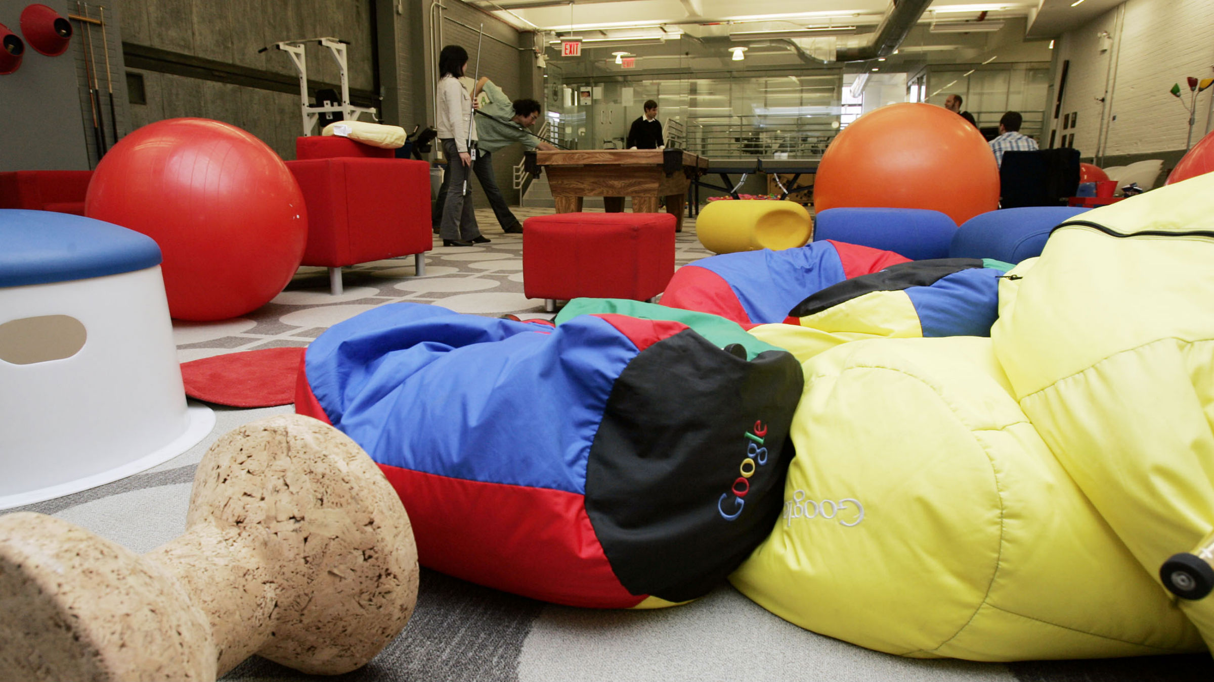 A view of the game room at the New York City offices of Google , March 10, 2008.