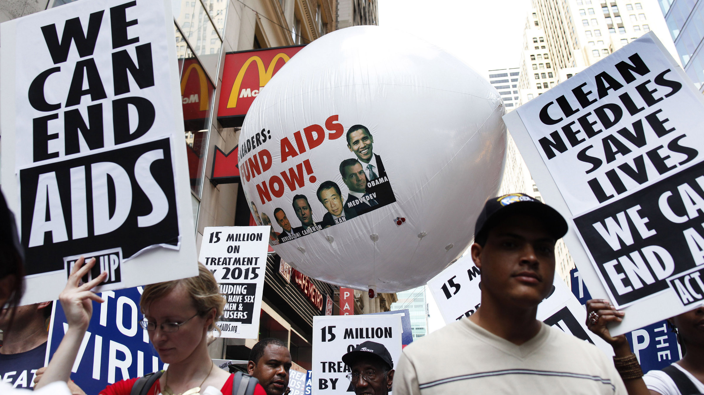 A rally against AIDS