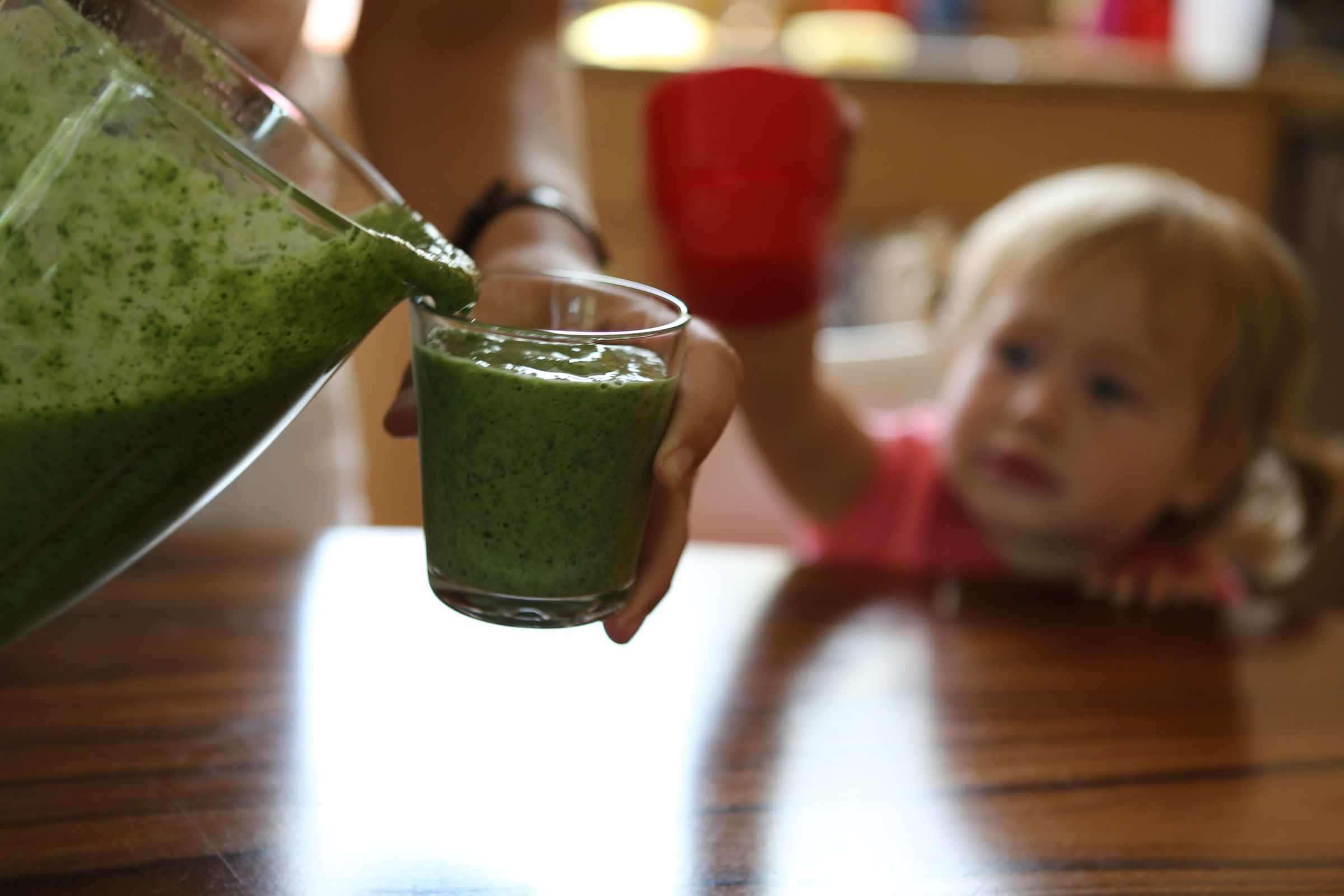 A kale-based smoothie.