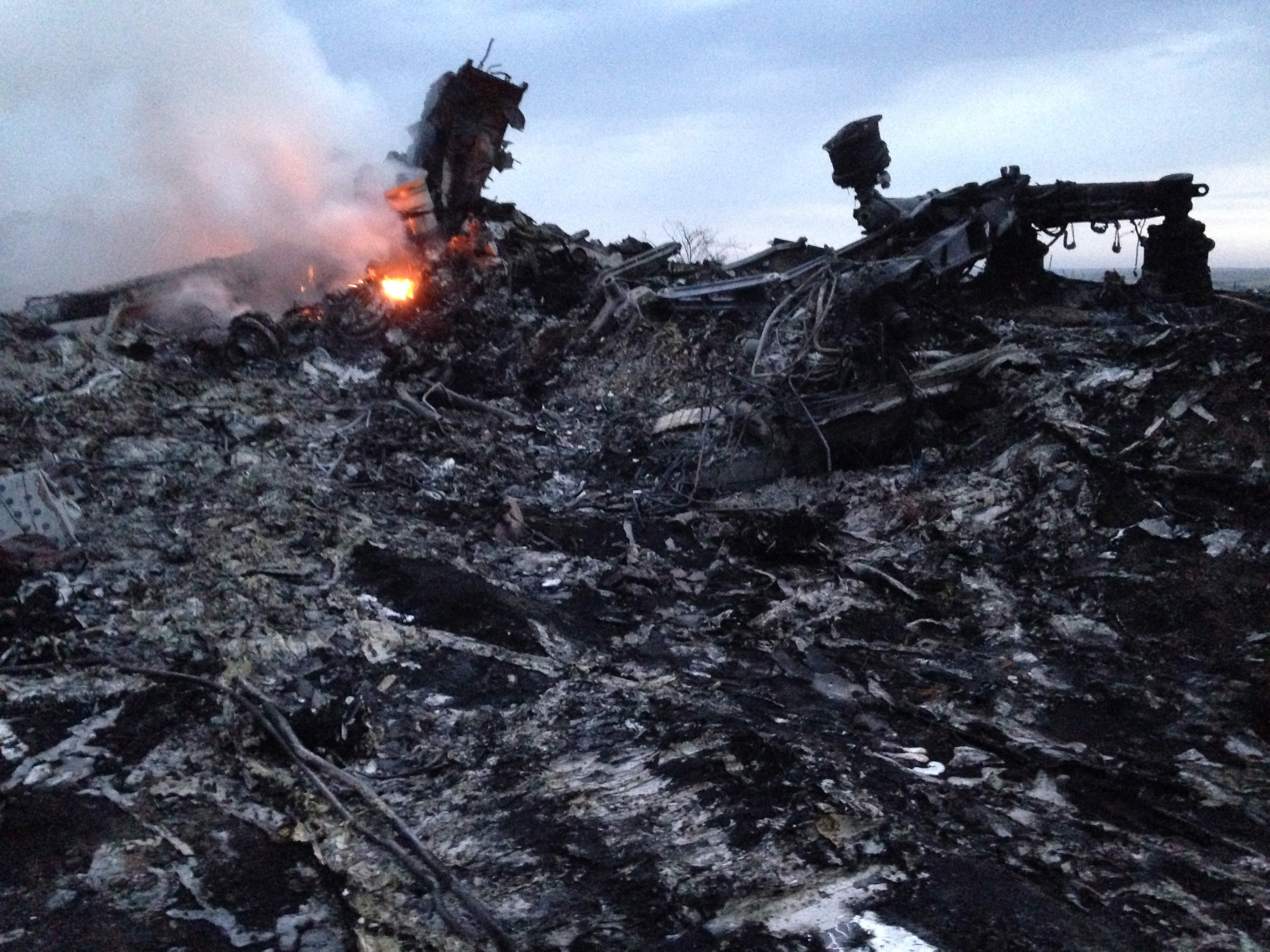Malaysian Airlines MH17 Ukraine wreckage