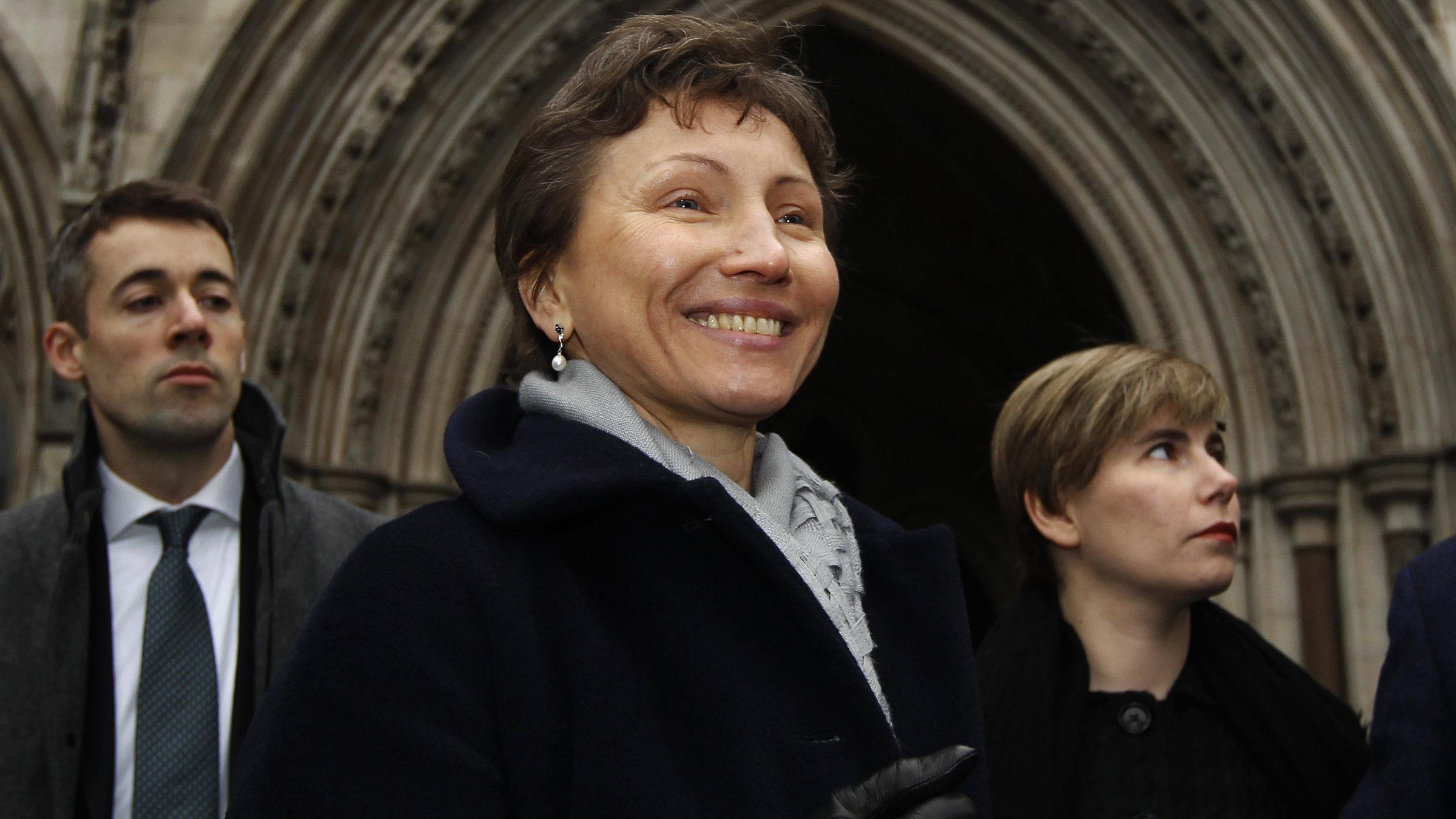 Marina Litvinenko, widow of KGB defector Alexander Litvinenko, outside the London High Court in Februrary 2013.