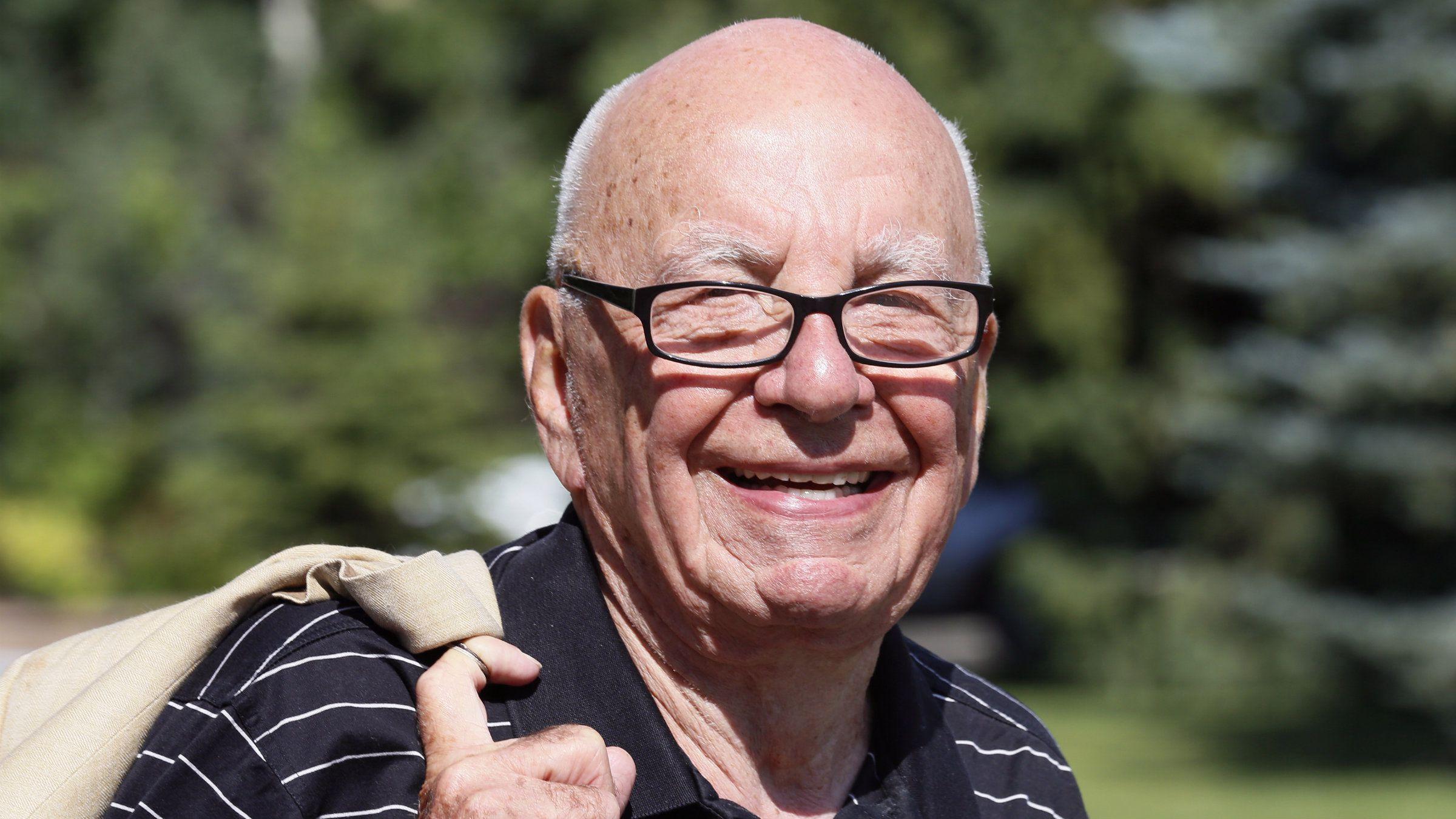 Rupert Murdoch in Sun Valley.