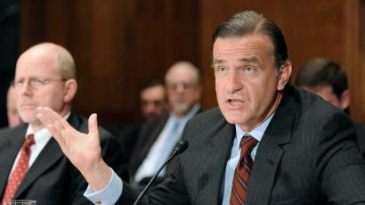 Steel speaks before the Financial Crisis Inquiry Commission on Capitol Hill in Washington