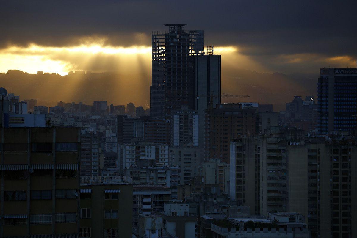 Torre David in the skyline of Caracas