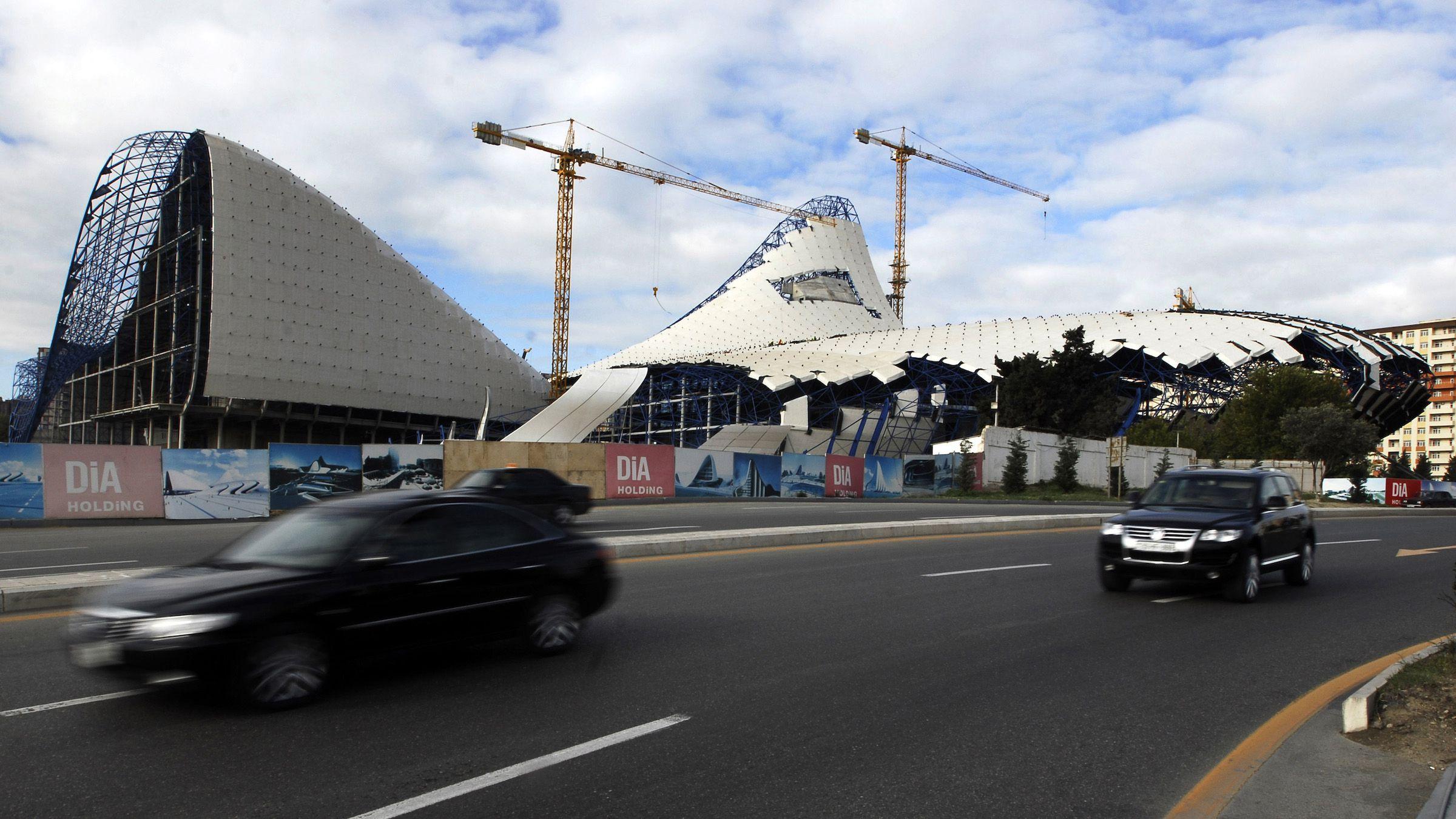 Zaha Hadid's Heydar Aliyev Center under construction