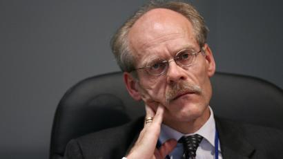 Swedish Central Bank Governor Stefan Ingves listens during a meeting.