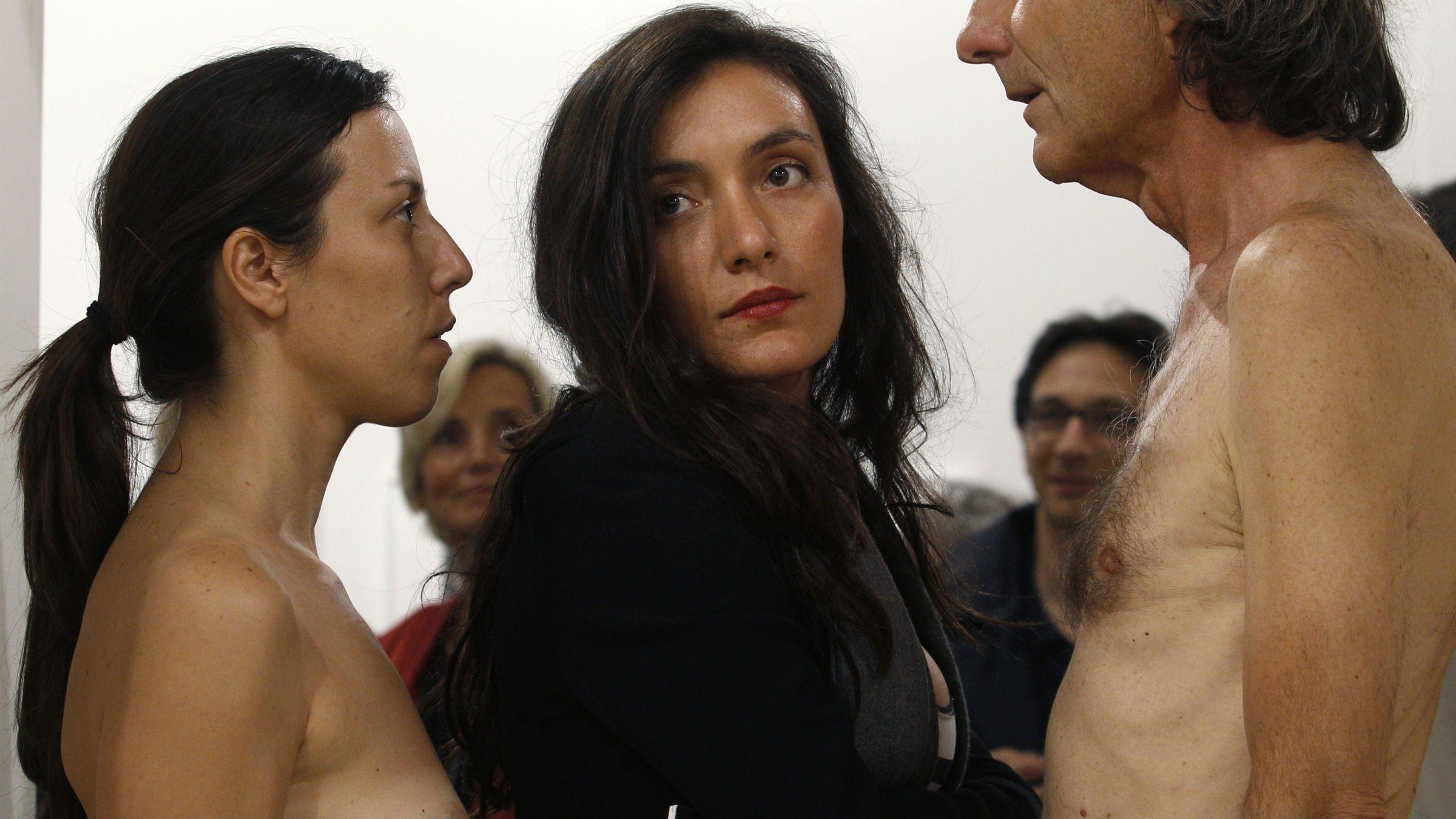 Marina Abramovic staring show