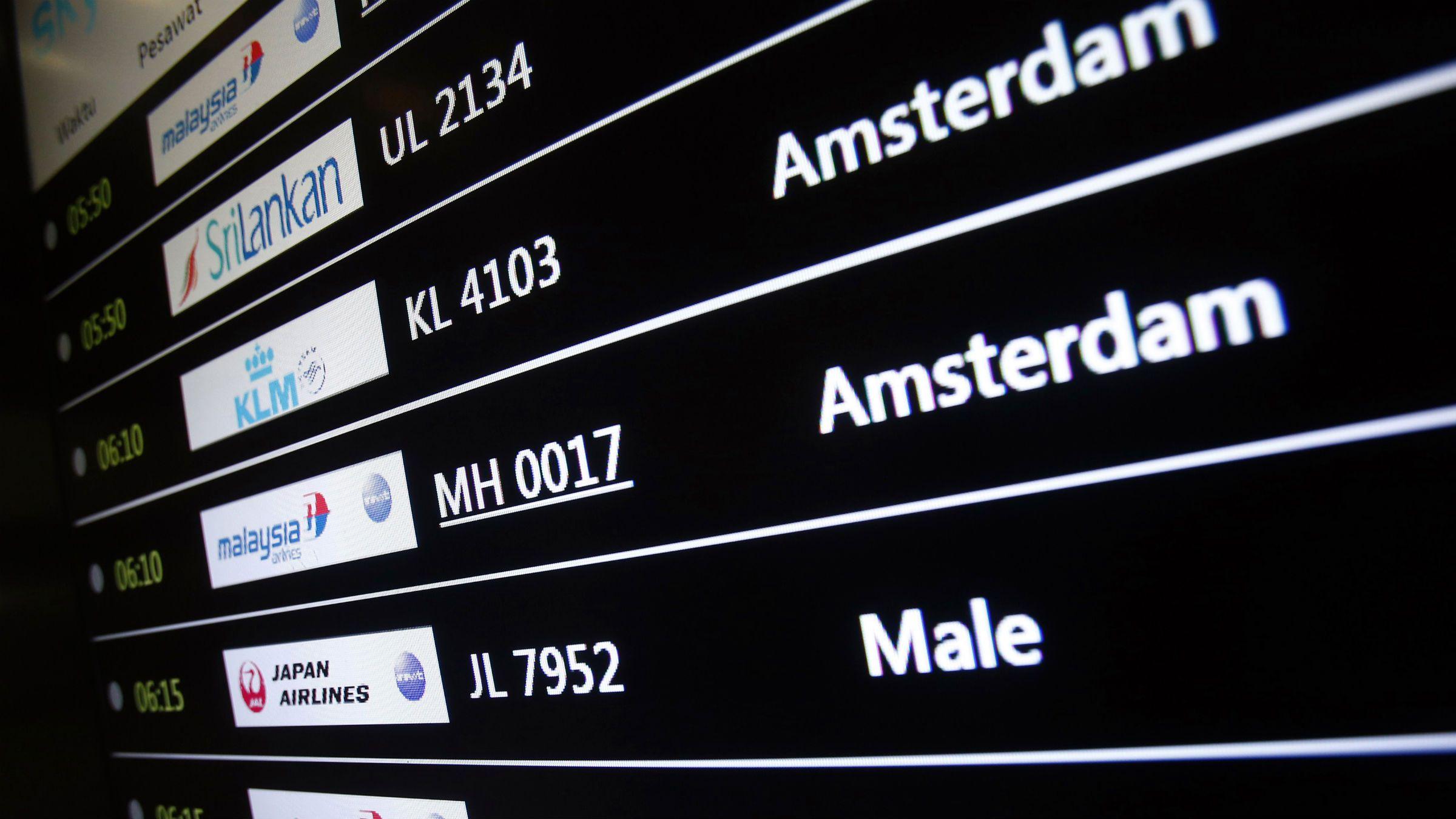Arrival details of flight MH17