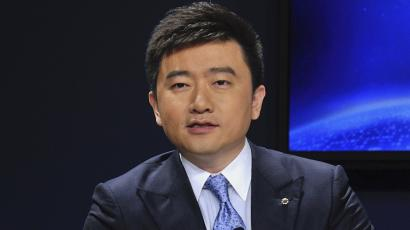 China Central Television (CCTV) host Rui Chenggang speaks during a conference in Dalian, Liaoning province September 12, 2013.