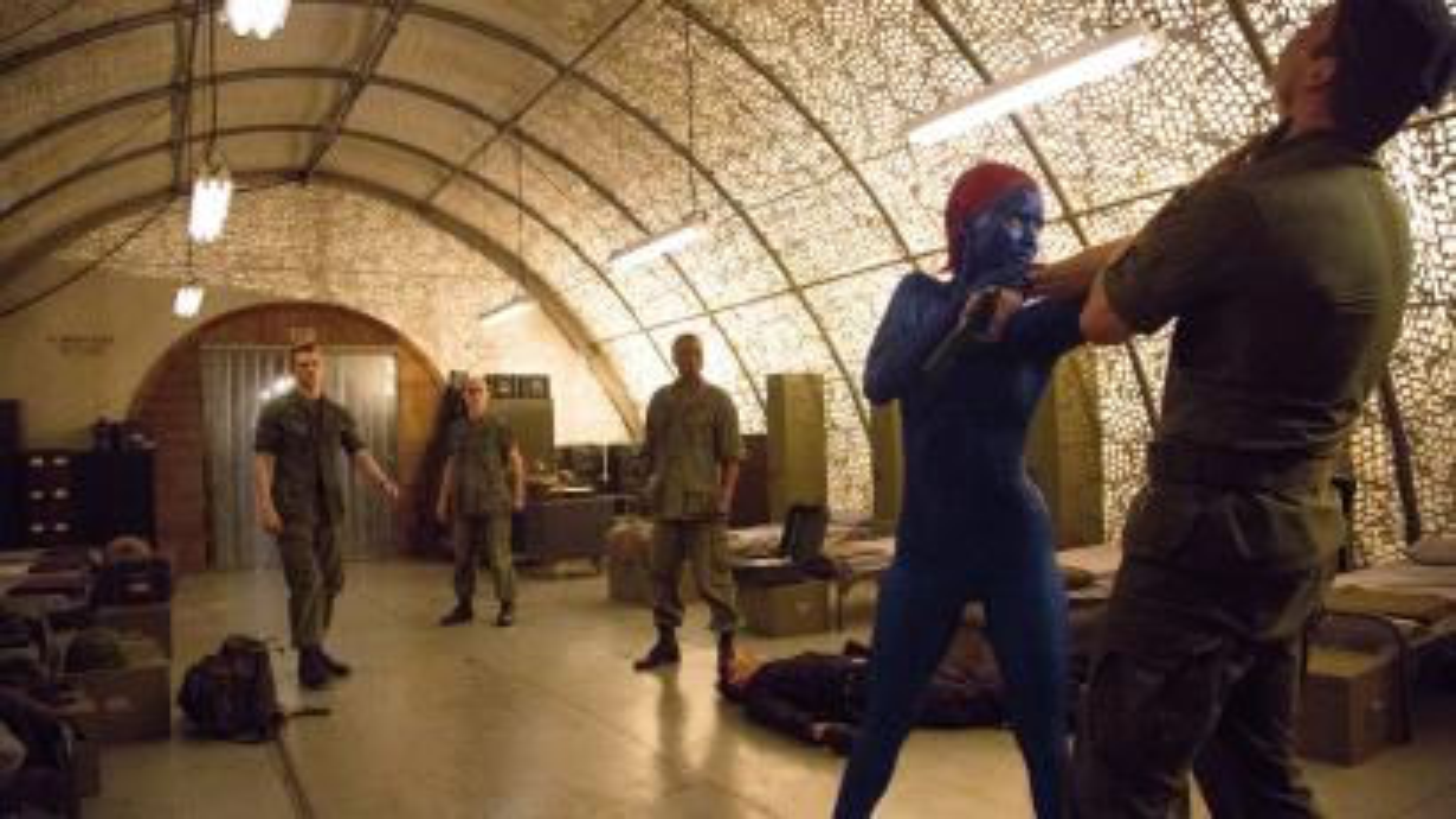Scene from X-Men movie