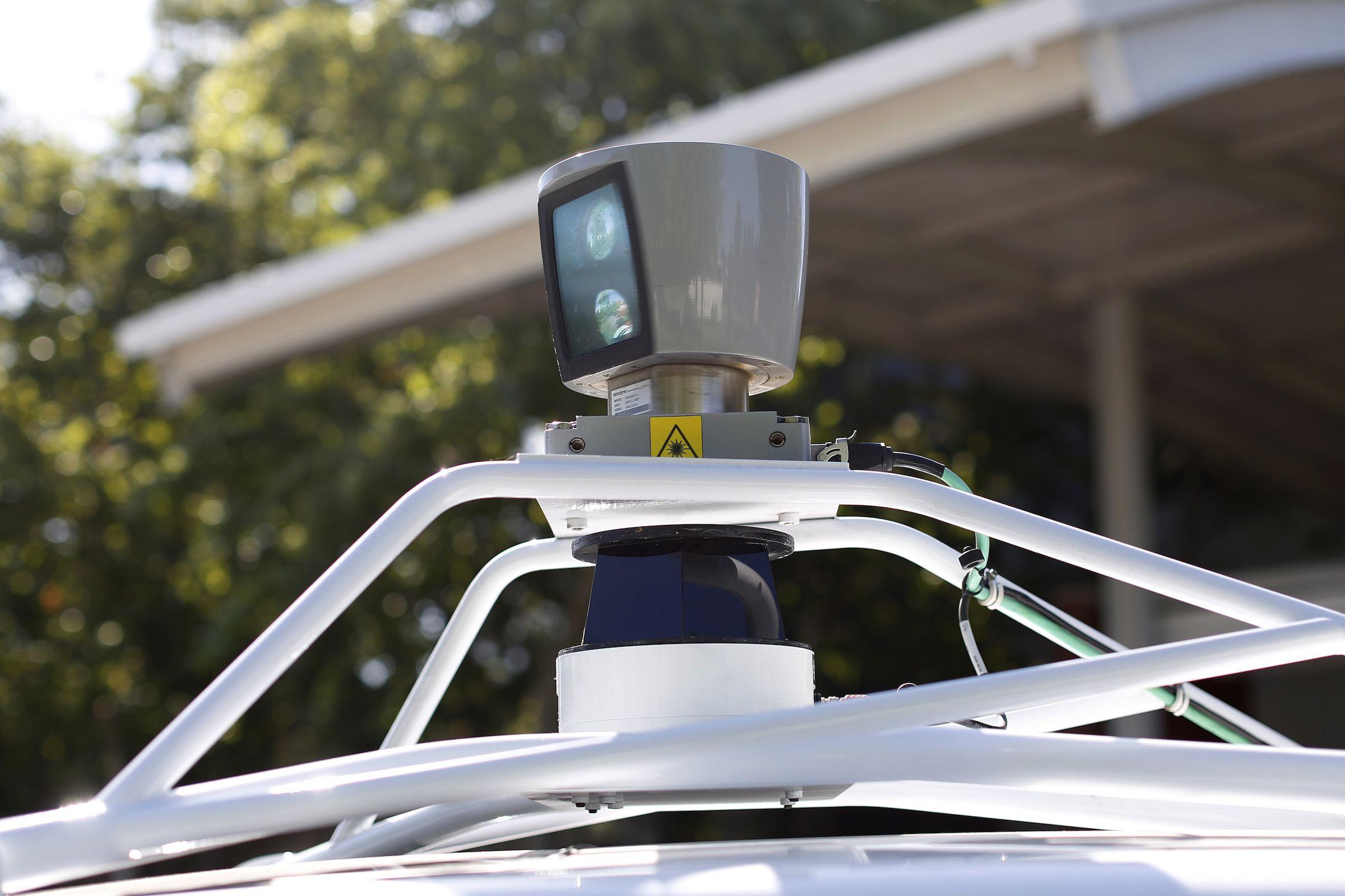 The sensor on top of Google's self-driving car.