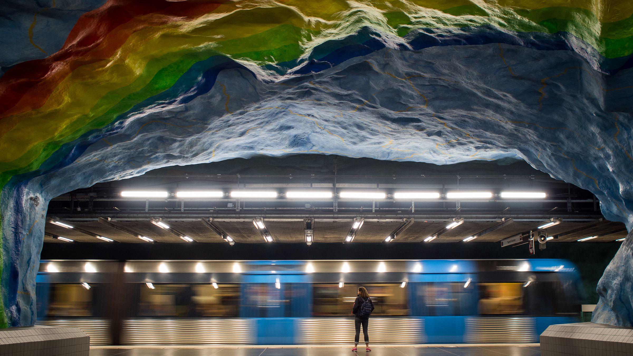 Stockholm's Stadion metro station