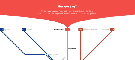 Stockholm's online contest to choose the color of its new metro line.