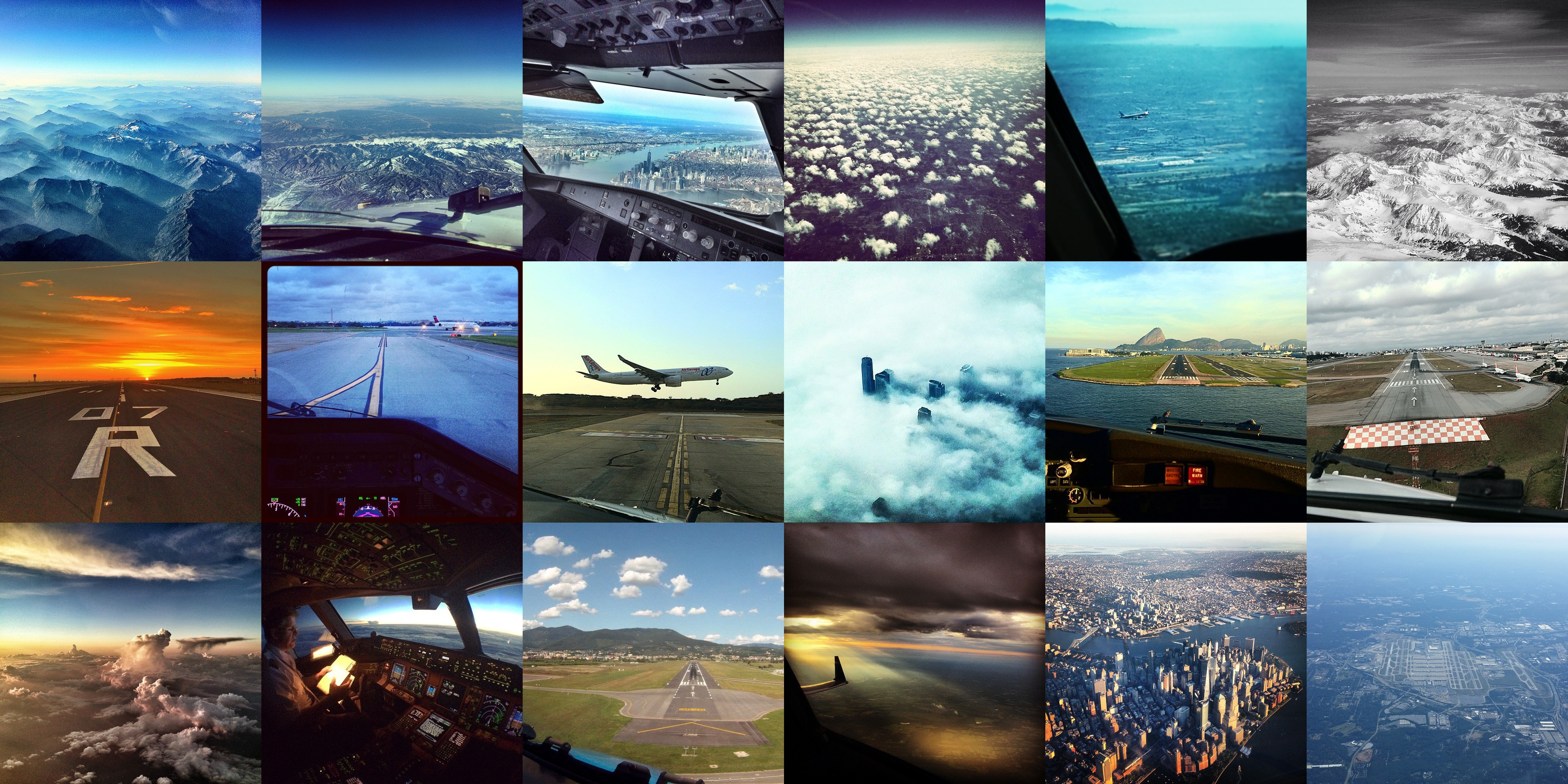 The pilots of Instagram: beautiful views from the cockpit
