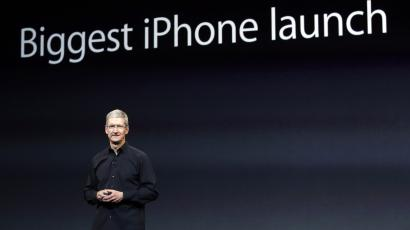 Apple CEO Tim Cook keynote biggest iPhone launch