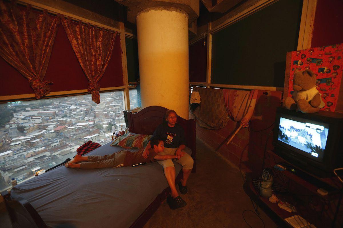 Inside an apartment in Caracas's Torre David