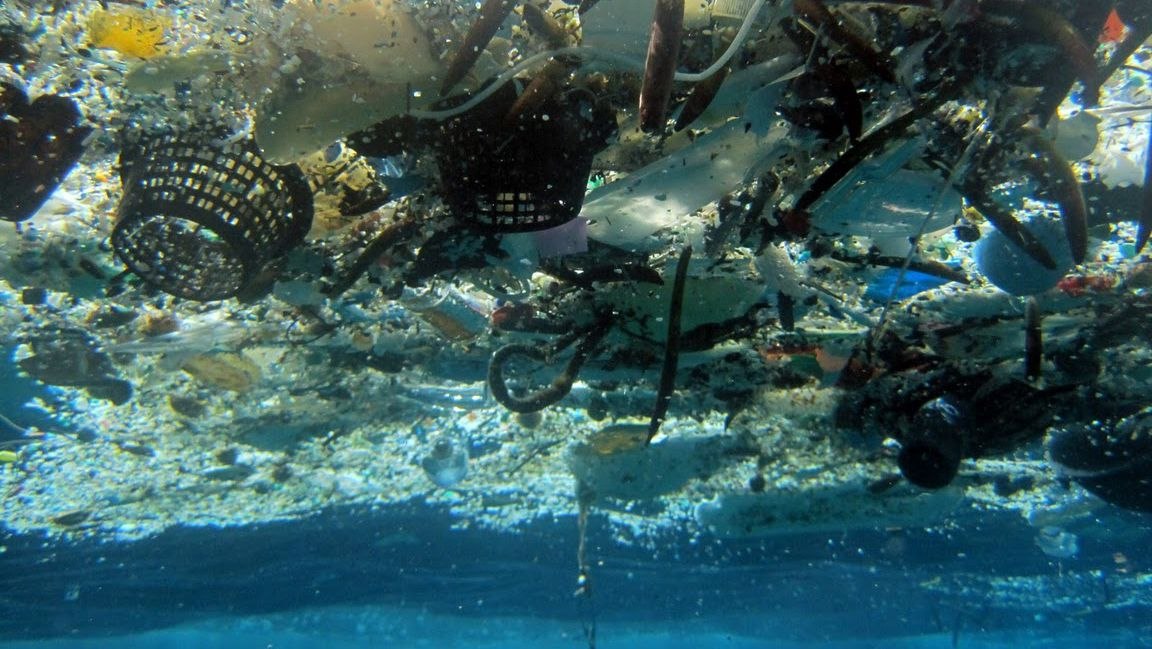 This 2008 photo provided by NOAA Pacific Islands Fisheries Science Center shows debris in Hanauma Bay, Hawaii. A study released by the Proceedings of the National Academy of Sciences on Monday, June 30, 2014, estimated the total amount of floating plastic debris in open ocean at 7,000 to 35,000 tons. The results of the study showed fewer very small pieces than expected. (AP Photo/NOAA Pacific Islands Fisheries Science Center pollution plastic missing trash litter mesopelagic fish