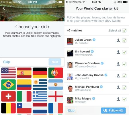 Twitter World Cup app product