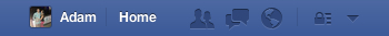 How Facebook's notification icon appears in the US