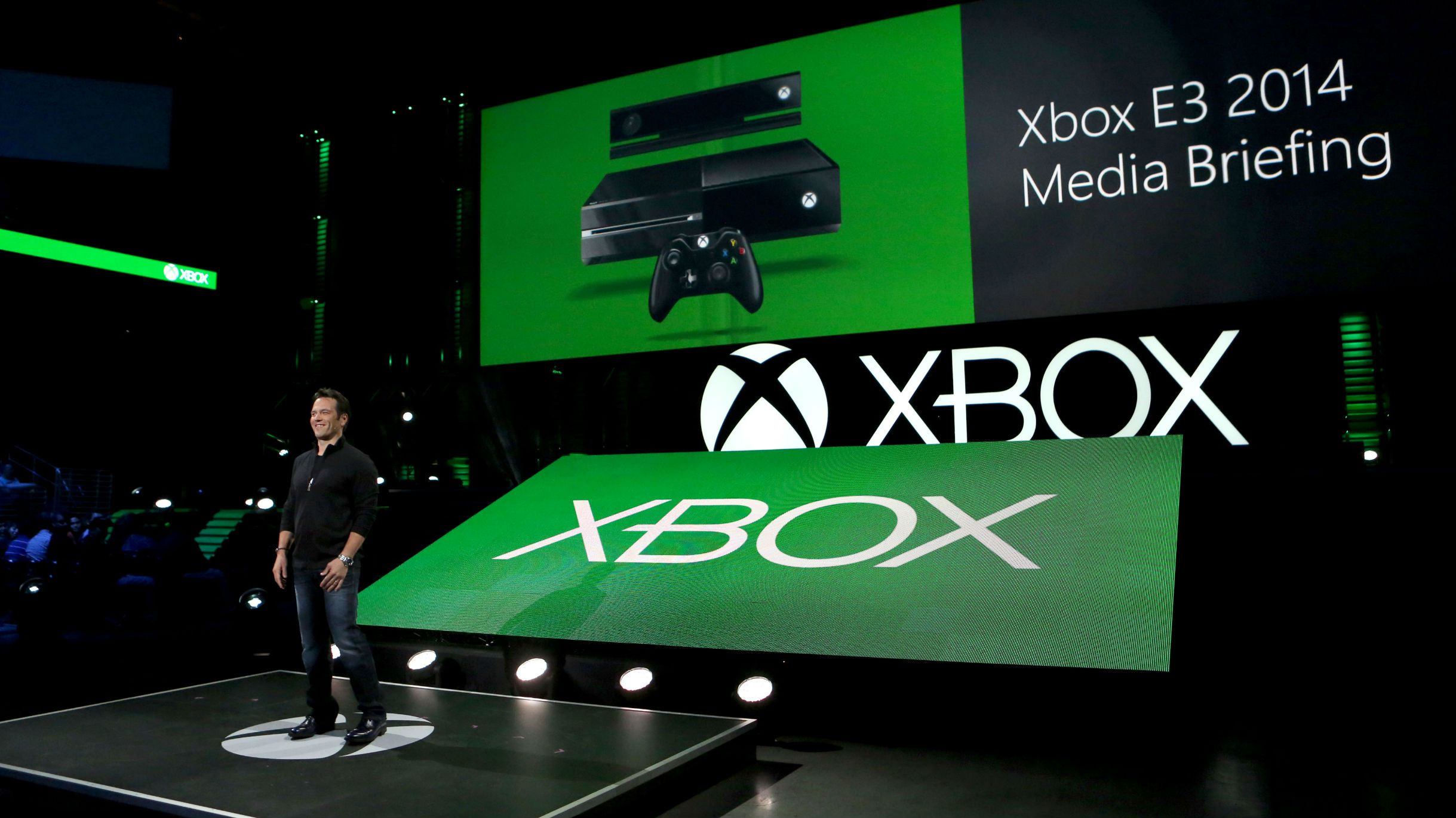Phil Spencer, Head of Xbox, at the Xbox E3 2014 Media Briefing at the Galen Center on Monday, June 9, 2014 in Los Angeles.