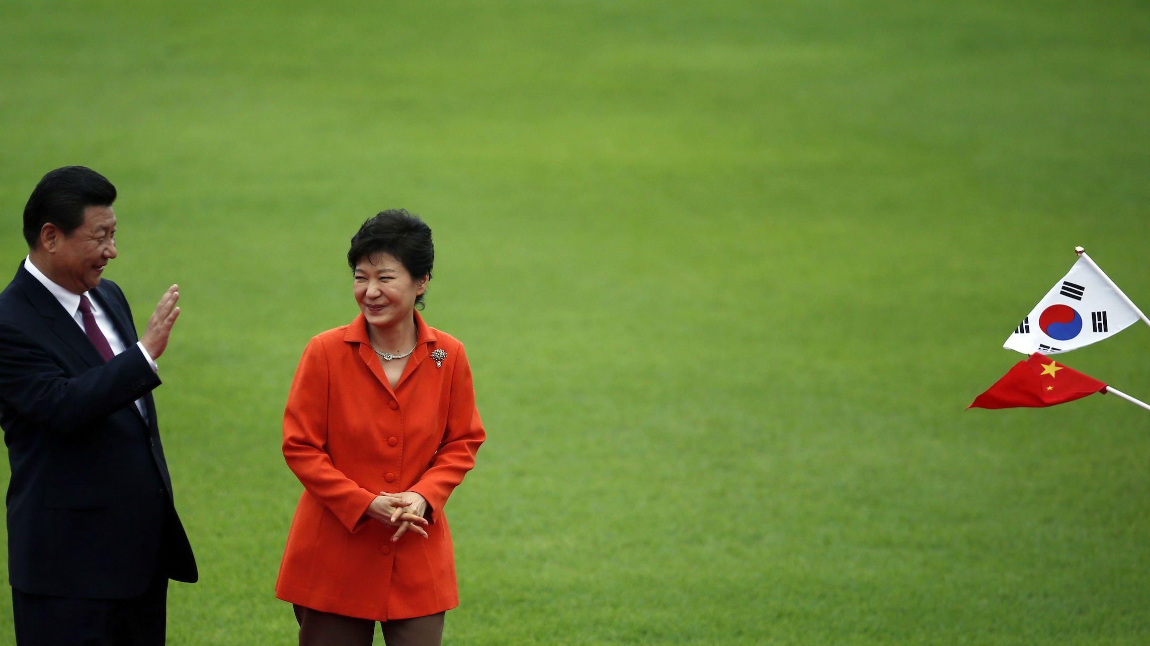 Xi jinping and Park Geun-hye