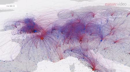 Tracing over 2000 years of cultural hub migration
