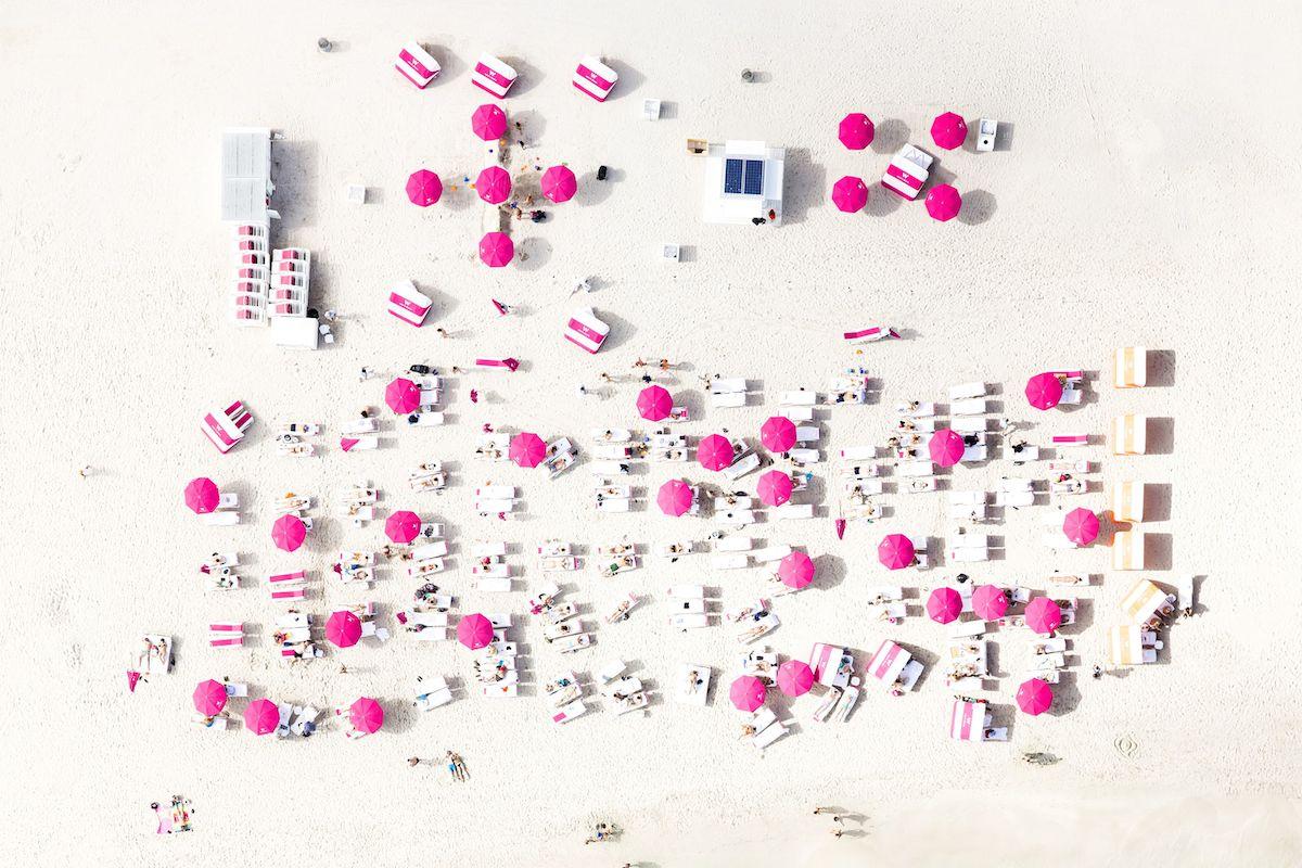 Aerial photo of a beach in Miami