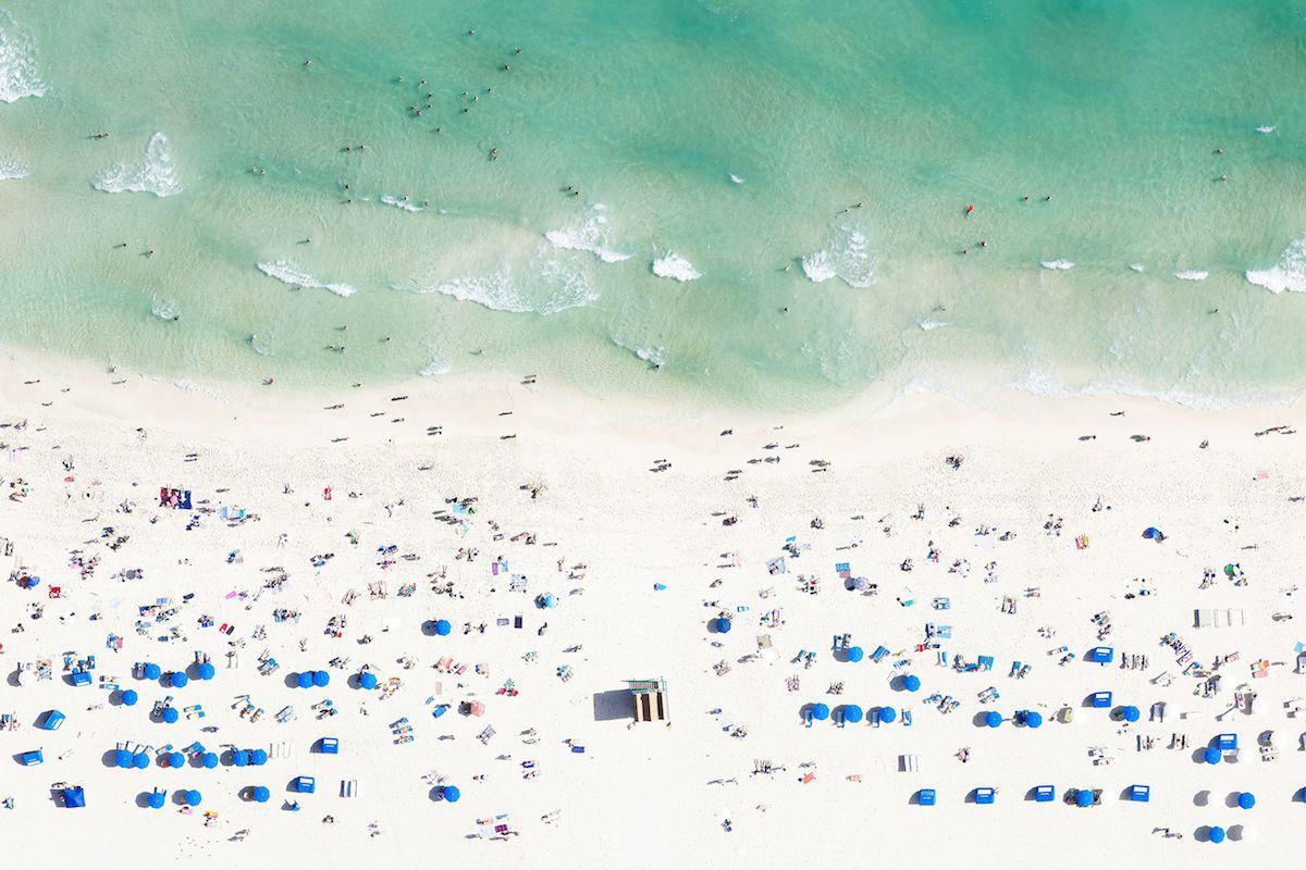 Aerial photo of a Miami beach