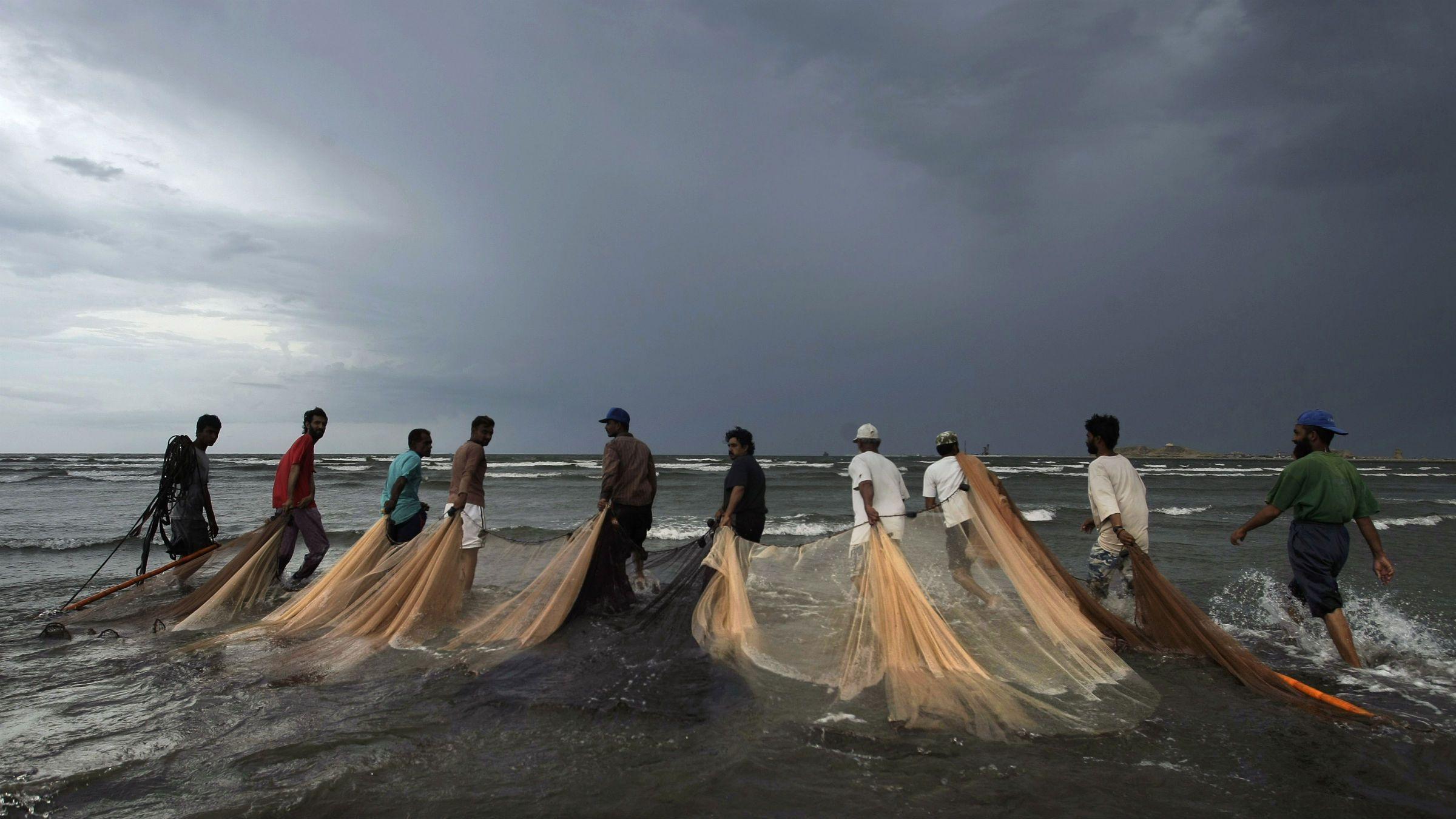 Pakistani fishermen
