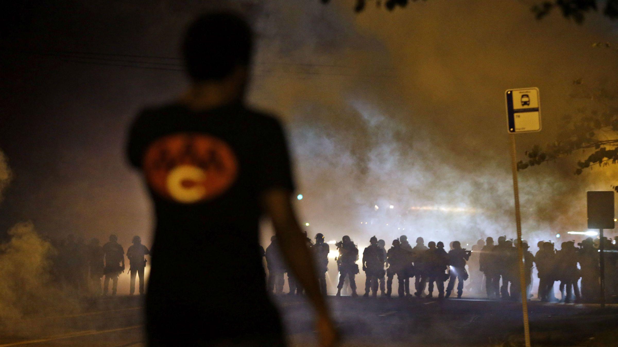 Tear gas in Ferguson