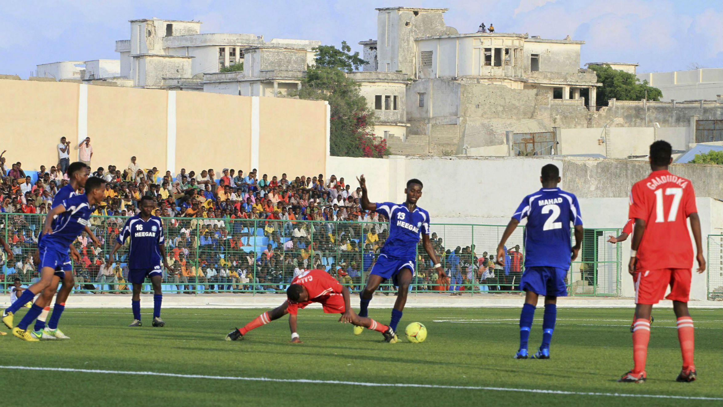Banadir Stadium in Mogadishu, Somalia